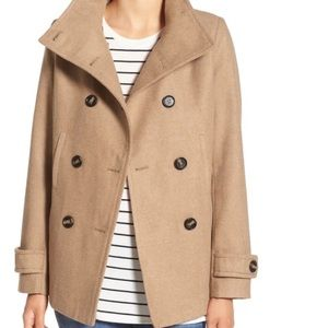 COPY - Thread & Supply Double breasted beige peacoat
